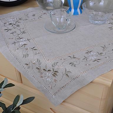 Pătrat Brodat Fețe de masă , In MaterialHotelul masă Nunta decorare Party Cina conferință de nunta Crăciun Decor Favor Tabelul Dceoration
