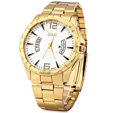للرجال ساعة فستان ساعات فاشن صيني كوارتز معدن فرقة قديم ذهبي