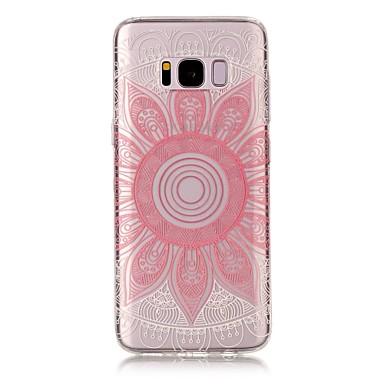 Pouzdro Uyumluluk Samsung Galaxy S8 Plus S8 IMD Şeffaf Temalı Arka Kılıf Mandala dantel Baskı Yumuşak TPU için S8 S8 Plus S7 edge S7 S6