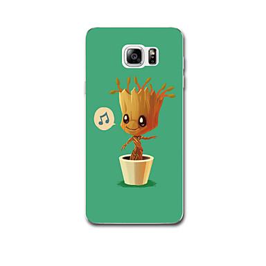 Için Kılıflar Kapaklar Ultra İnce Temalı Arka Kılıf Pouzdro Ağaç Yumuşak TPU için Samsung Note 5 Note 4 Note 3