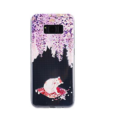 غطاء من أجل Samsung Galaxy S8 Plus S8 شفاف مطرز نموذج غطاء خلفي قطة ناعم TPU إلى S8 S8 Plus S7 edge S7 S5