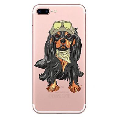 غطاء من أجل Apple شفاف نموذج غطاء خلفي كلب ناعم TPU إلى فون 7 زائد فون 7 iPhone 6s Plus iPhone 6 Plus iPhone 6s أيفون 6