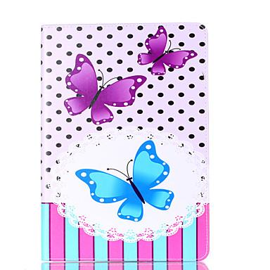 Für Apfel ipad Pro 9.7 '' ipad 5 ipad 6 Fallabdeckung Schmetterlingsmusterkarte Stent PU-Material flache Schutzoberteil