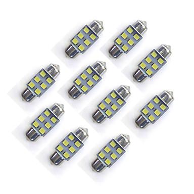 10 szt. 31 mm 6 * 2835 smd led samochód światło żarówkowe białe światło dc12v