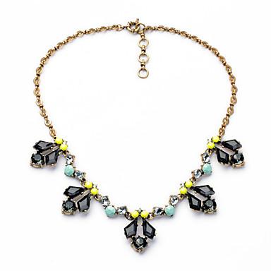 Kadın's Tellerinin Kolye Geometric Shape Kişiselleştirilmiş lüks mücevher Siyah Mücevher Için Düğün 1pc