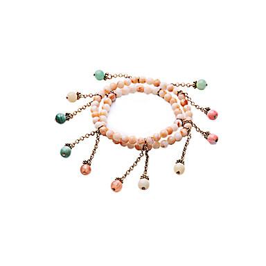 Damskie Bransoletki Strand Modny Stop Round Shape Biżuteria Na Specjalne okazje Prezenty bożonarodzeniowe 1szt