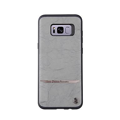hoesje Voor Samsung Galaxy S8 Plus S8 Mat Achterkantje Effen Kleur Hard Echt leer voor S8 S8 Plus