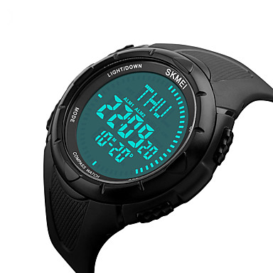 Smart horloge Waterbestendig Lange stand-by Multifunctioneel Kompas Sportief Timer Stopwatch Wekker Chronograaf Kalender IR Geen Sim Card