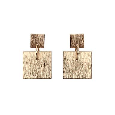 Damen Mädchen Tropfen-Ohrringe Schmuck Einzigartiges Design Geometrisch Quadrat Schmuck mit Aussage Klassisch Modisch individualisiert