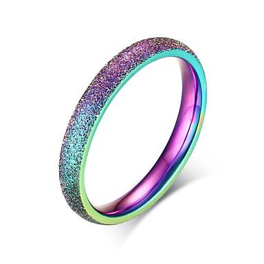 Pentru femei Teak Inel - Rotund / Circle Shape / Geometric Shape Personalizat / De Bază / Euramerican Culori Asortate Inel Pentru