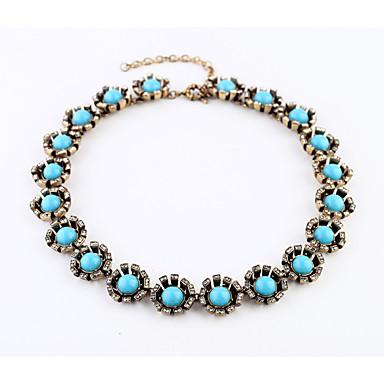 Pentru femei Lănțișoare Circle Shape La modă Personalizat Albastru Deschis Bijuterii Pentru Petrecere Cadouri de Crăciun 1 buc
