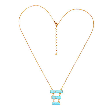 Γυναικεία Κρεμαστά Κολιέ Μοναδικό Εξατομικευόμενο Μπλε Απαλό Κοσμήματα Για Causal 1pc