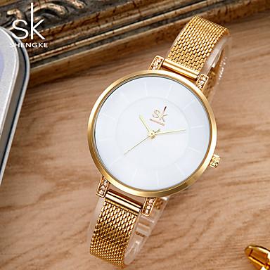 dd53d9a70 SK نسائي ساعه اسورة ساعة ذهبية ياباني كوارتز معدن فضة / ذهبي 30 m مقاوم  للماء