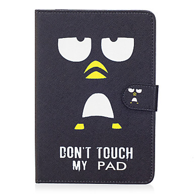 Pentru Apple ipad mini 4 3 2 1 capacul capacul alb ochi model pictat card stent portofel pu materialul pielii coajă de protecție plat