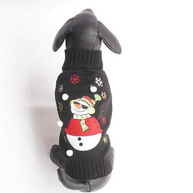 Câine Pulovere Îmbrăcăminte Câini Casul/Zilnic Modă Desene Animate Negru Costume Pentru animale de companie