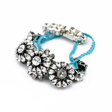 Γυναικεία Βραχιόλια με Αλυσίδα & Κούμπωμα Κοσμήματα Πολυτέλεια Φιλία Κράμα Flower Shape Κοσμήματα Για Πάρτι Γενέθλια