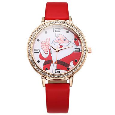 Mulheres Relógio Elegante Quartzo Couro Banda Preta Branco Azul Vermelho Rosa