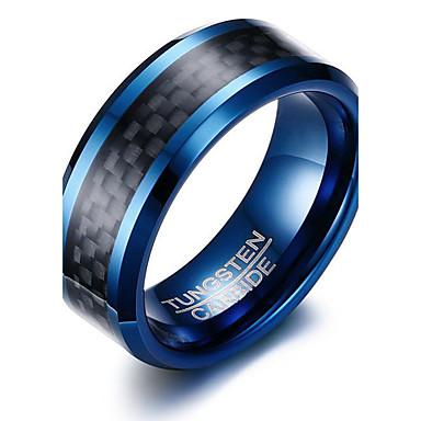 Herrn Ring Personalisiert Grundlegend Modisch Euramerican Simple Style Wolframstahl Kreisförmig Kreisform Geometrische Form Schmuck Party