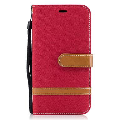 Hülle Für Motorola Kreditkartenfächer Geldbeutel mit Halterung Flipbare Hülle Magnetisch Ganzkörper-Gehäuse Volltonfarbe Hart PU-Leder für