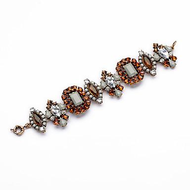 Kadın's Zincir & Halka Bileklikler Mücevher Arkadaşlık lüks mücevher alaşım Geometric Shape Mücevher Uyumluluk Parti Özel Anlar