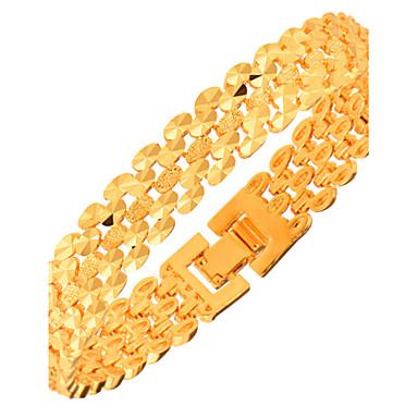 Erkek Kadın's Zincir & Halka Bileklikler Mücevher Moda Altın Geometric Shape Mücevher Yılbaşı Hediyeleri Parti Özel Anlar Doğumgünü Nişan