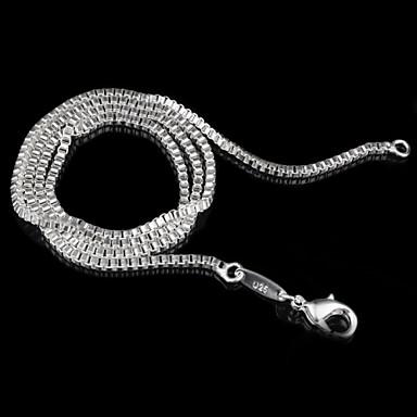 Női Nyakláncok Alap minimalista stílusú Ezüst 3# 4# 5# Nyakláncok Ékszerek Kompatibilitás Esküvő Parti Ajándék Napi Hétköznapi