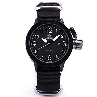 Χαμηλού Κόστους Ανδρικά ρολόγια-Ανδρικά Μοδάτο Ρολόι Χαλαζίας Ψηφιακή σιλικόνη Νάιλον Μαύρο 30 m Αναλογικό Λευκό Μαύρο