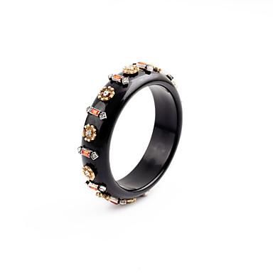 Kadın's Bilezikler Mücevher Arkadaşlık lüks mücevher alaşım Round Shape Beyaz Siyah Mücevher Için Parti Doğumgünü 1pc
