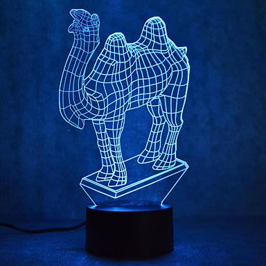 wielbłąda dotyk przyciemnianie 3d led night light 7 kolorowa dekoracja atmosfera lampa nowość oświetlenie światło