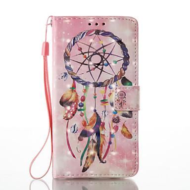 Varten Lomapkko Korttikotelo Tuella Flip Kuvio Etui Kokonaan peittävä Etui Unisieppari Kova Tekonahka varten HuaweiHuawei P9 Lite Huawei