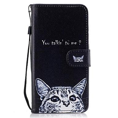 Pentru Portofel Titluar Card Cu Stand Întoarce Model Maska Corp Plin Maska Pisica Greu PU piele pentru HuaweiHuawei P9 Lite Huawei P8