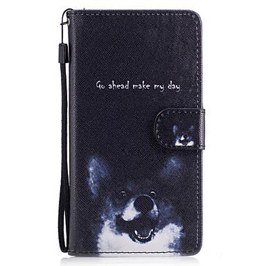 Για Θήκες Καλύμματα Πορτοφόλι Θήκη καρτών με βάση στήριξης Ανοιγόμενη Με σχέδια Μαγνητική Πλήρης κάλυψη tok Σκύλος Σκληρή Συνθετικό δέρμα