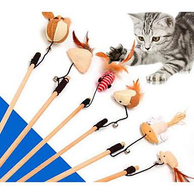 Kediler İçin Değnek Oyuncaklar Kediler İçin Tüyler Kediler İçin Kilitli Oyuncaklar Dayanıklı Kumaş Plastik Uyumluluk Kedi Kedi Yavrusu