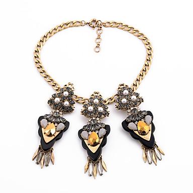 Damskie Pasemka Naszyjniki Kryształ Postarzane Osobiste euroamerykańskiej Bronze Biżuteria Na Ślub Impreza 1szt