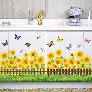Botanic Modă Florale Perete Postituri Autocolante perete plane Autocolante de Perete Decorative Adezive de Măsurat Înălțimea,Hârtie