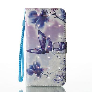Etui Käyttötarkoitus Samsung Galaxy S8 Plus S8 Lomapkko Korttikotelo Tuella Flip Kuvio Kokonaan peittävä Perhonen Kukka Kova PU-nahka
