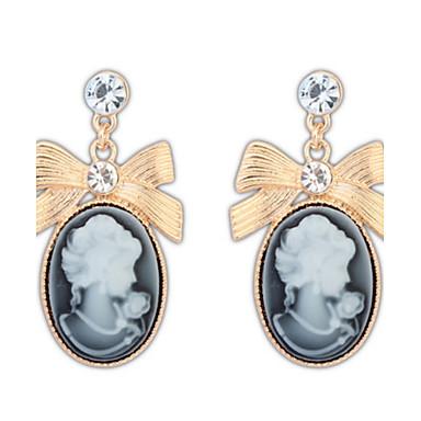 Damen Tropfen-Ohrringe Schmuck Basis Einzigartiges Design Logo Stil Anhänger Stil Strass Geometrisch Freundschaft Schmuck mit Aussage