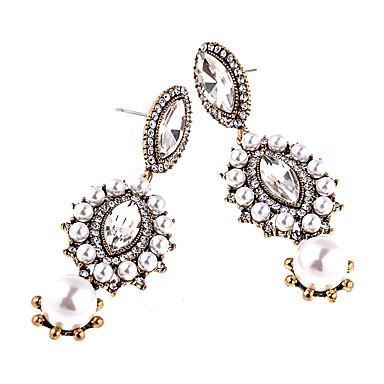 Σκουλαρίκια Σετ Κρυστάλλινο Μοντέρνα Εξατομικευόμενο Euramerican Κράμα Λευκό Μαύρο Μπλε Κοσμήματα Για Γάμου Πάρτι 1 ζευγάρι