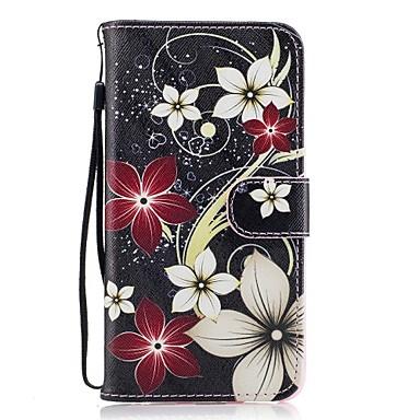 Για Θήκη καρτών Πορτοφόλι με βάση στήριξης Ανοιγόμενη Με σχέδια tok Πλήρης κάλυψη tok Λουλούδι Σκληρή Συνθετικό δέρμα για HuaweiHuawei P9