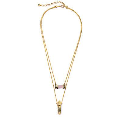 Damskie Warstwy Naszyjniki Geometric Shape Słodkie Style Gold Biżuteria Na 1szt