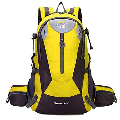 35L حقيبة ظهر - مقاوم للماء, يمكن ارتداؤها, مقاومة الهزة التخييم والتنزه برتقالي, أحمر, أصفر