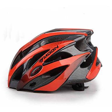 MOON Yetişkinler Bisiklet kaskı 25 Delikler Darbeye Dayanıklı EPS, PC Yol Bisikletçiliği / Bisiklete biniciliği / Bisiklet / Dağ Bisikleti - Kırmızı siyah