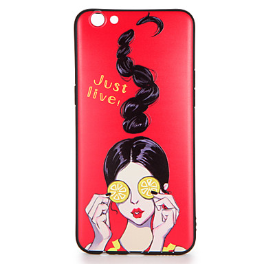 Voor oppo r9s r9s plus case cover patroon achterkant hoesje sexy dame soft tpu r9 r9 plus
