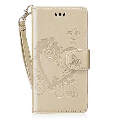 غطاء من أجل Huawei حامل البطاقات محفظة مع حامل قلب نموذج غطاء كامل للجسم قلب قاسي جلد PU إلى P8 Lite (2017) Honor 8 Huawei