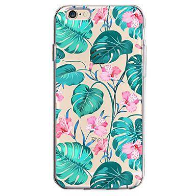 Voor apple iphone 7 7 plus 6s 6 plus case cover bloem patroon geverfd hoge penetratie tpu materiaal zachte case telefoon hoesje