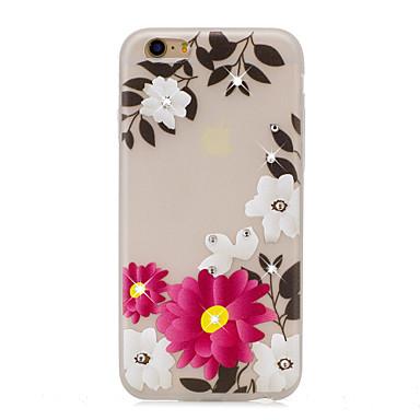 Voor diy strass gloed in het donker imd transparante case achterkant hoesje rose zachte tpu voor iphone 7 plus 7 6s plus 5s 5