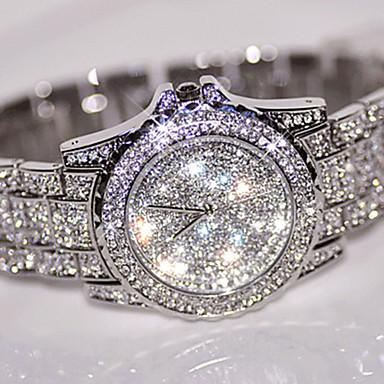 Жен. Кварцевый Наручные часы Китайский Cool Нержавеющая сталь Группа На каждый день / Мода Серебристый металл / Золотистый