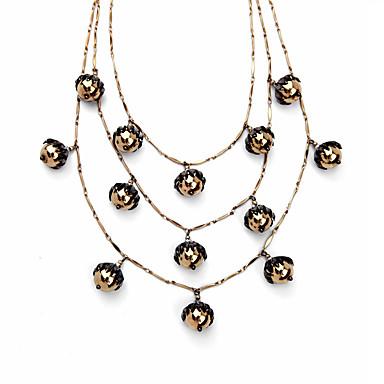 Damskie Warstwy Naszyjniki Kryształ Osobiste euroamerykańskiej Kwiaty Biżuteria Na Ślub Impreza
