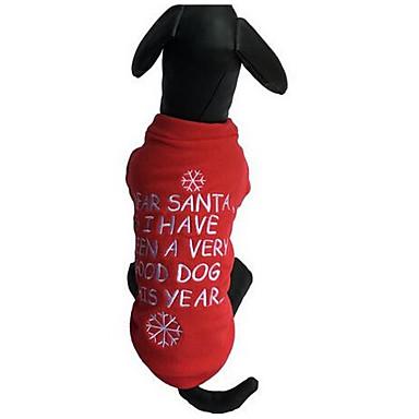 كلب البلوزات ملابس الكلاب متنفس كريسماس عيد الميلاد كاجوال/يومي موضة كارتون أحمر كوستيوم للحيوانات الأليفة