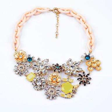 Damskie Pasemka Naszyjniki Flower Shape Unikalny Słodkie Style Biżuteria Na Codzienny